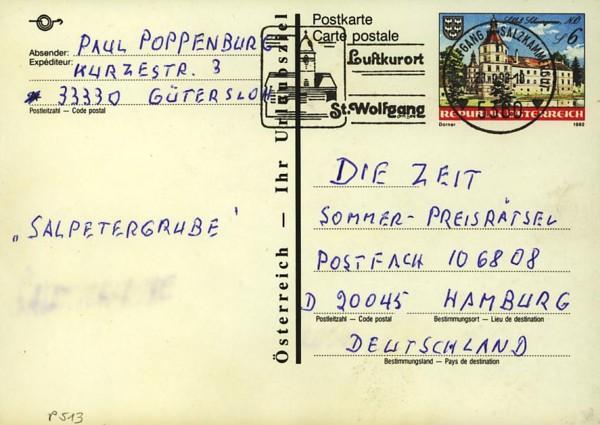 Postkarten ab 1986 bis 2005 bedarfsgelaufen P_51310