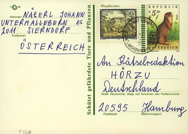 Postkarten ab 1986 bis 2005 bedarfsgelaufen P_52610