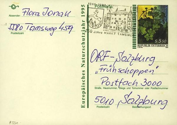 Postkarten ab 1986 bis 2005 bedarfsgelaufen P_53110