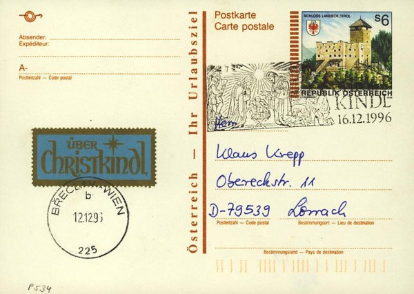 Postkarten ab 1986 bis 2005 bedarfsgelaufen P_53410