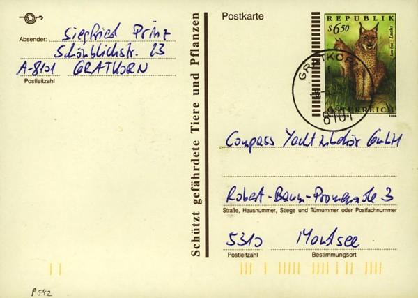 Postkarten ab 1986 bis 2005 bedarfsgelaufen P_54210