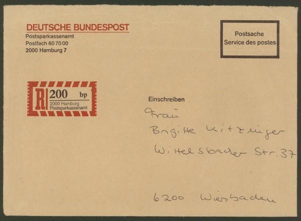 Postsparkassenamt Hamburg  -  Dienstumschlag Postsa10