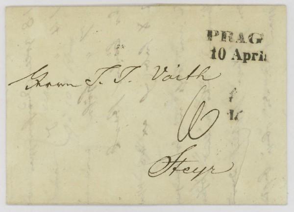 Nachtrag - Vorphilatelie Österreich  -   Briefe aus der Vormarkenzeit Prag_s10