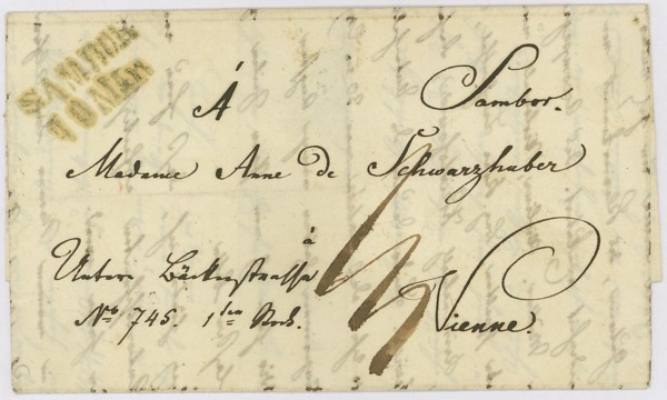 Nachtrag - Vorphilatelie Österreich  -   Briefe aus der Vormarkenzeit Sambor10