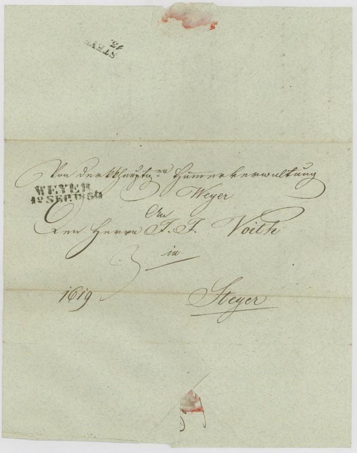 Vorphilatelie Österreich  -   Briefe aus der Vormarkenzeit Weyer_10
