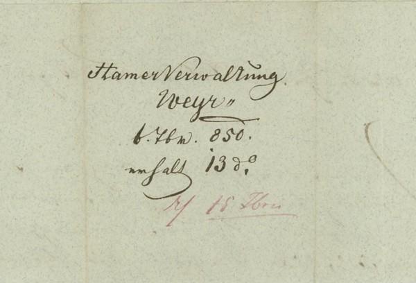 Nachtrag - Vorphilatelie Österreich  -   Briefe aus der Vormarkenzeit Weyer_11