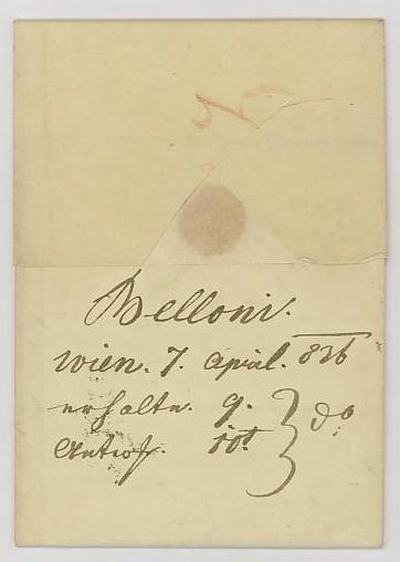 Nachtrag - Vorphilatelie Österreich  -   Briefe aus der Vormarkenzeit Wien_s11