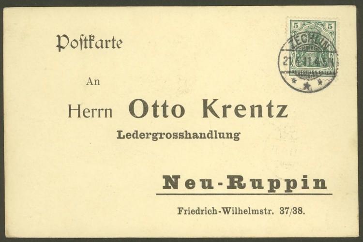 Rundstempel des Deutschen Reiches auf Karte oder Brief Zechli10