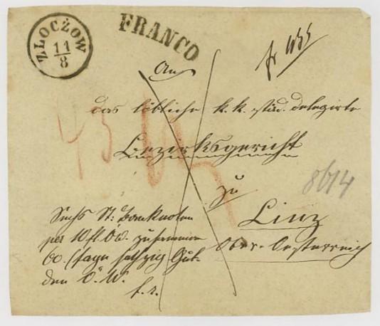Vorphilatelie Österreich  -   Briefe aus der Vormarkenzeit Zloczo10