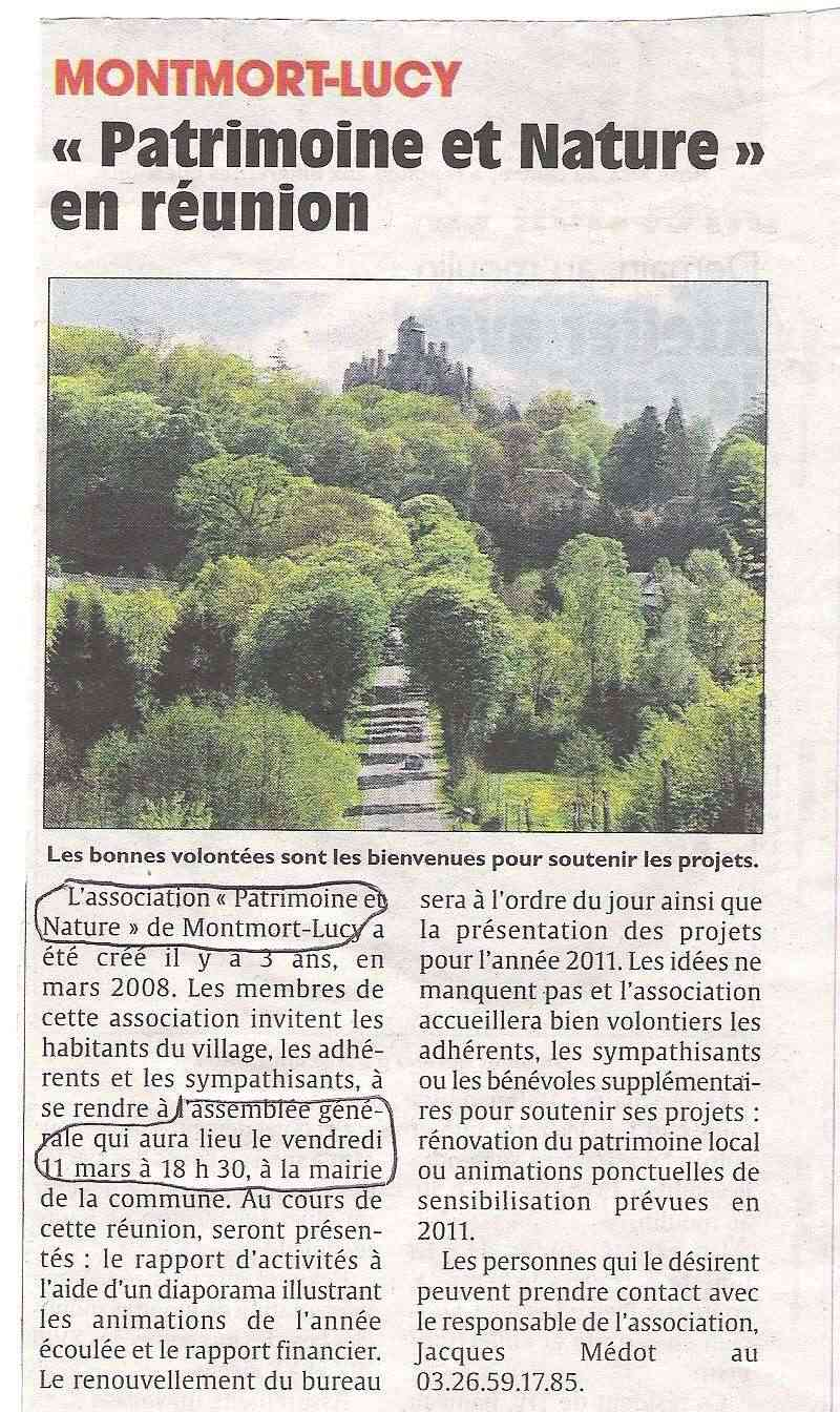 """Les autres Associations """"Histoire & Patrimoine"""" du Pays d'Epernay Montmo10"""