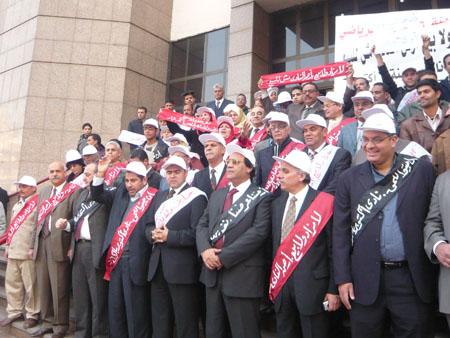 وقفة إحتجاجية علي أعتاب سلم مجلس الدولة بالجيزة P1030222