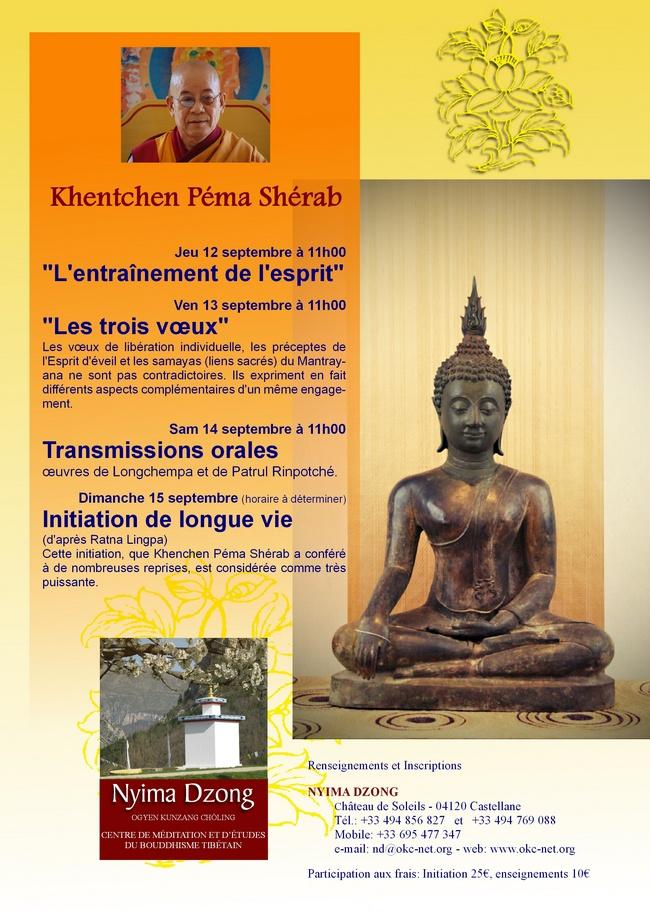 Khentchen Pema Sherab à Nyima Dzong 2013 Affich10