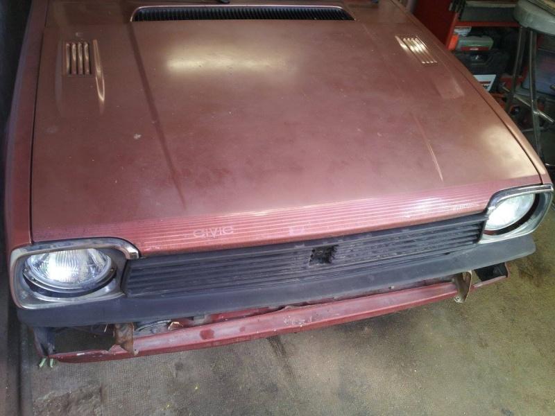 HONDA CIVIC SS552 de 1983 sauvée du broyeur 13537210
