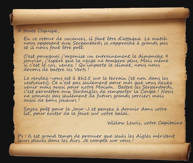 Quirinus Quirrell, write me something Lettre11