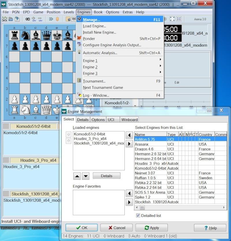 Arena Chess GUI Arena10