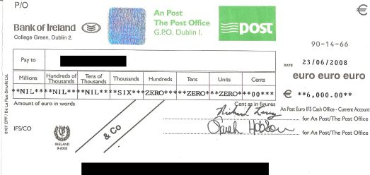BUYER - cheating with cheques Check10