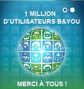 B&YOU totalise 1.000.000 de clients au 31 décembre 2012 Byou1m10