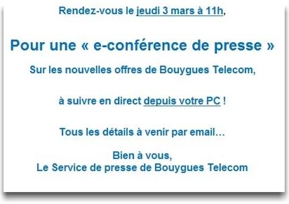 Une e-Conférence de presse, pour de nouvelles offres... - Page 2 Econf10