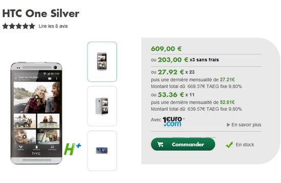 Le HTC One également disponible chez B&YOU à 609€ Htcone13
