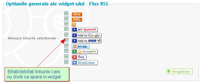 Widgeturi (module) predefinite 52798210