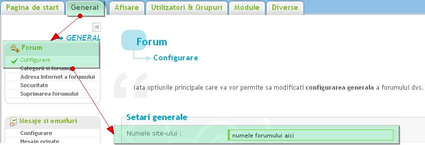 Numele forumului si titlul paginii de start 99914610