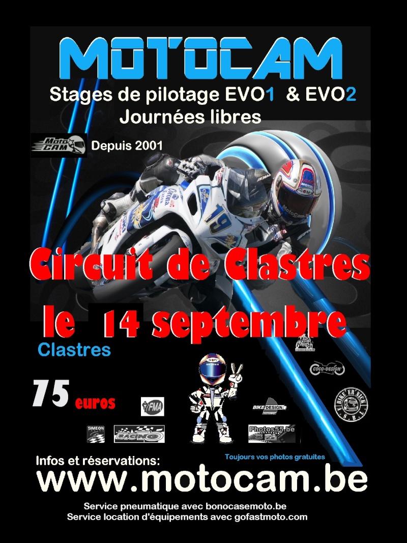 Roulage piste le samedi 14 septembre à Clastres Affich15
