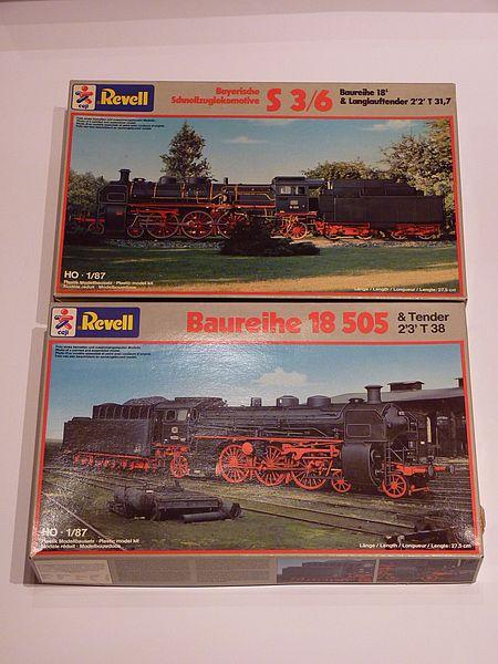 BR 18 505 und Bayr. S3/6 Revell 1:87 P1060210