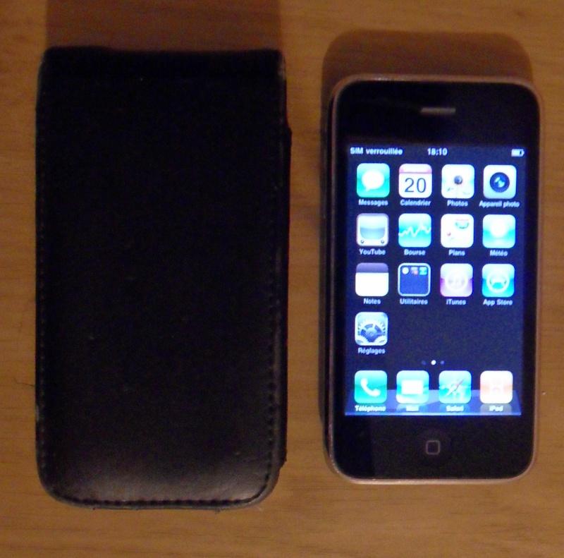 Vend Iphone 3G noir 8Go Sdc11710