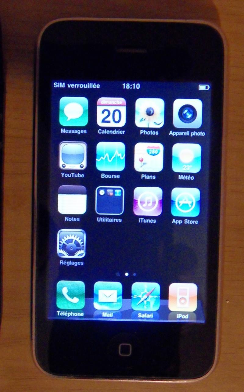 Vend Iphone 3G noir 8Go Sdc11711