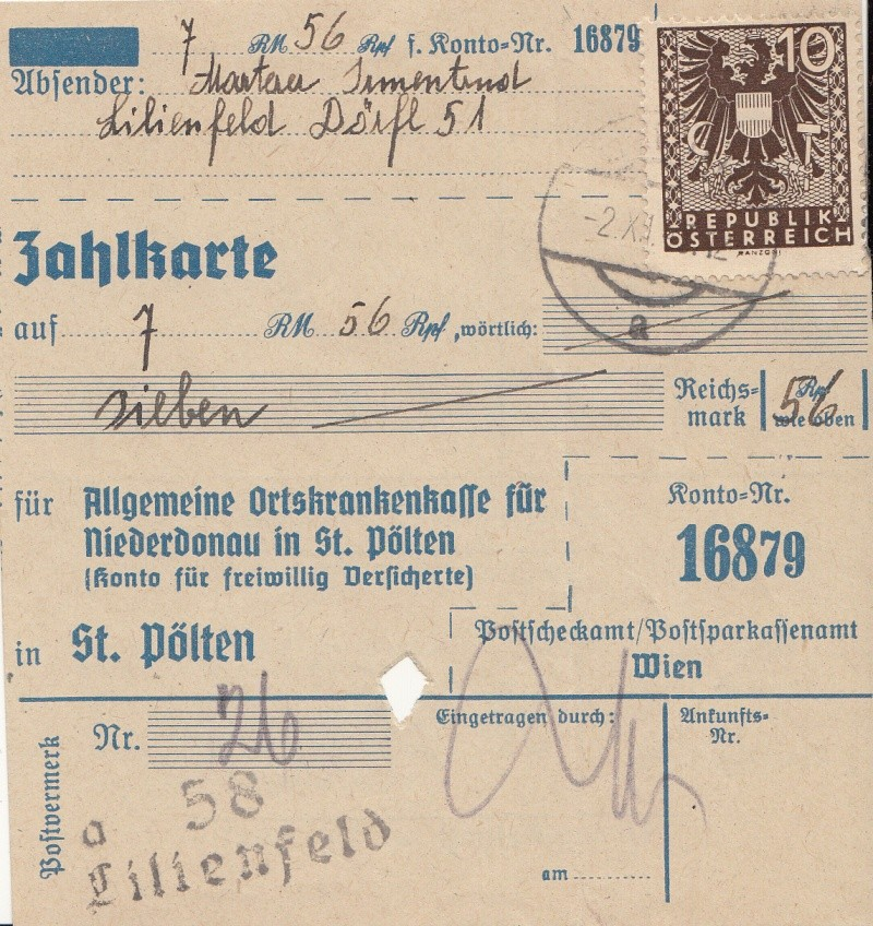 Wappenzeichnung  -  ANK 714-736 - Belege Img14