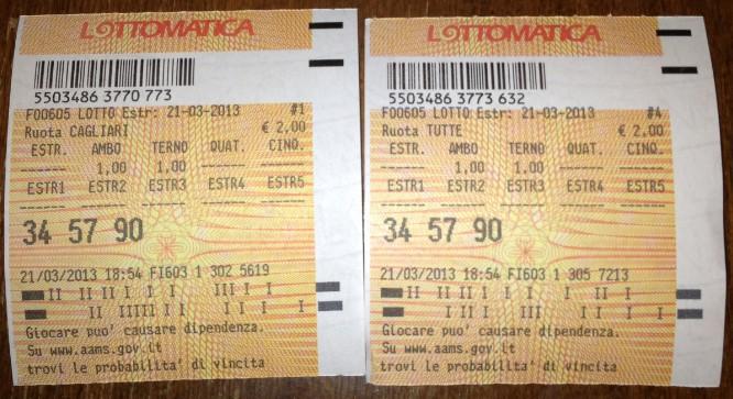 """GChiaramida:22/23 MARZO 2013 - Una nuova scommessa sul numero 90! A COLPO AMBO SECCO UNICO 76-90 SU RM DAL """"TERNOVANTA"""" 34-9010"""