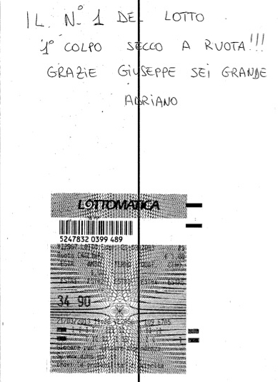 """GChiaramida:22/23 MARZO 2013 - Una nuova scommessa sul numero 90! A COLPO AMBO SECCO UNICO 76-90 SU RM DAL """"TERNOVANTA"""" 34-90a10"""