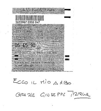 """GChiaramida:22/23 MARZO 2013 - Una nuova scommessa sul numero 90! A COLPO AMBO SECCO UNICO 76-90 SU RM DAL """"TERNOVANTA"""" 5-90ti10"""