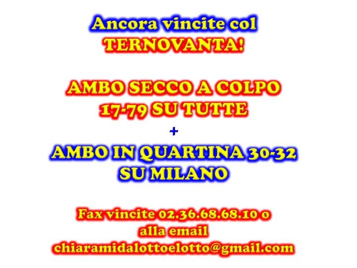 GChiaramida:Il Grand Tour del 90 - ALL VIII COLPO dal TERNOVANTA ambo secco 23-45 su FIRENZE Diapos21