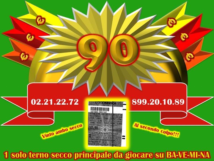 GChiaramida:Lista di attesa per il metodo TERNOVANTA! AL II COLPO AMBO SECO 5-90 SU CAGLIARI DAL TERNOVANTA Diapos37