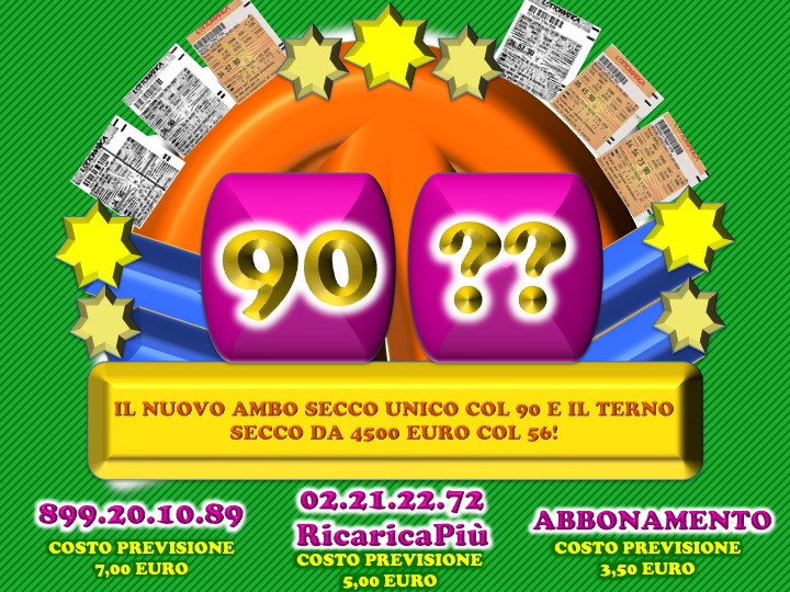 """GChiaramida:22/23 MARZO 2013 - Una nuova scommessa sul numero 90! A COLPO AMBO SECCO UNICO 76-90 SU RM DAL """"TERNOVANTA"""" Diapos43"""