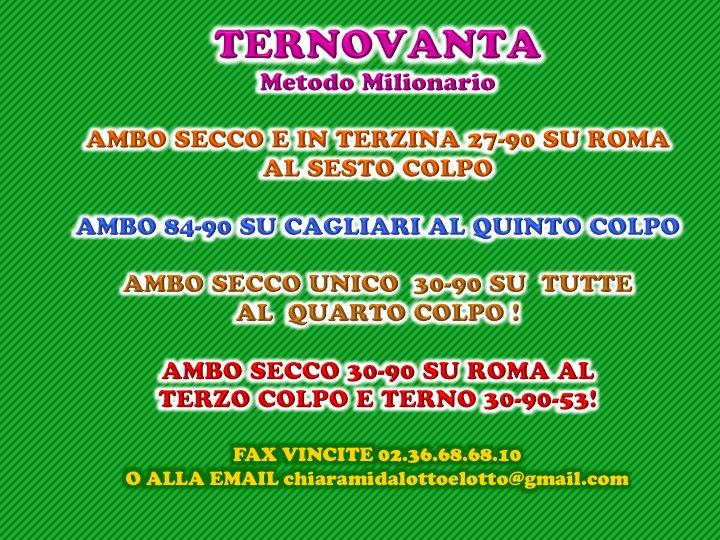 GChiaramida Premium: - TERNOVANTA - AMBO SECCO O IN TERZINA 67-90 SU PALERMO (23/7) Diapos85