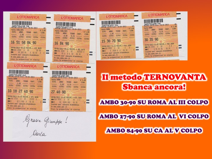GChiaramida Premium: - TERNOVANTA - AMBO SECCO O IN TERZINA 67-90 SU PALERMO (23/7) Diapos88