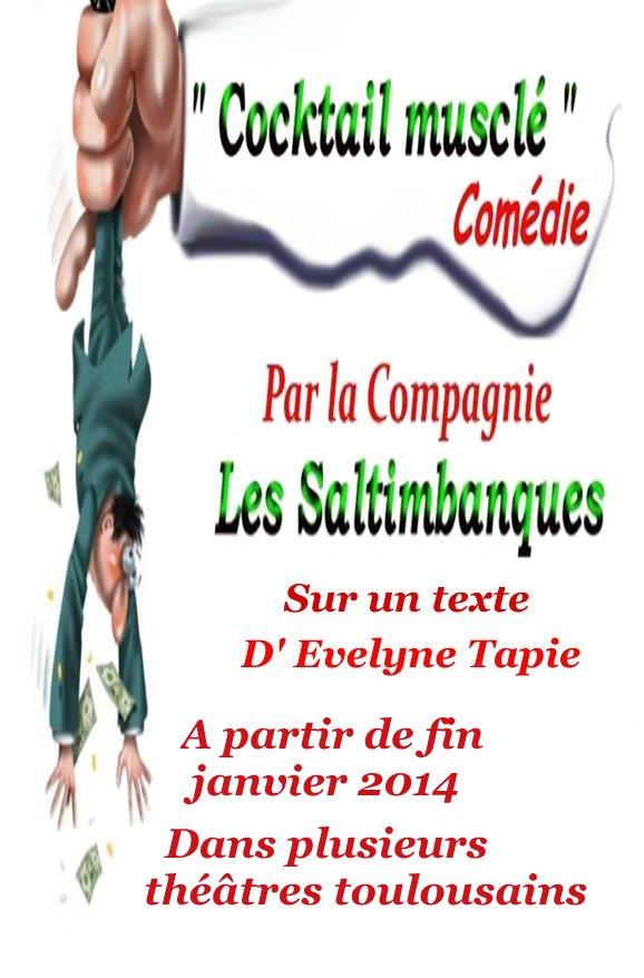 """"""" Cocktail musclé""""  Pièce (comédie) Evelyne Tapie Affcoc10"""