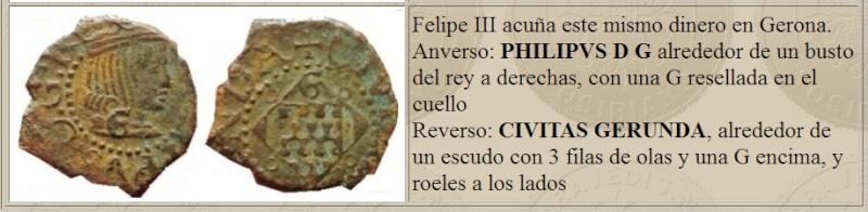 Dinero de Gérone pour Felipe III (1598-1621) Dinero10