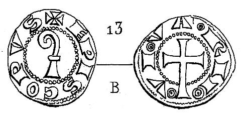 obole anonyme des évêques et archevêques d'Arles. Pa386410