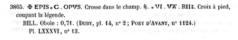 obole anonyme des évêques et archevêques d'Arles. Pa386411