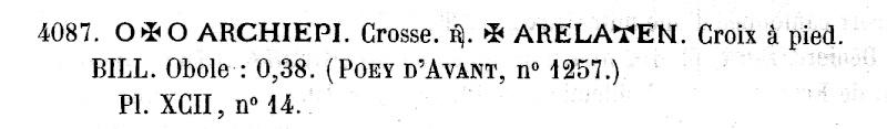 obole anonyme des évêques et archevêques d'Arles. Pa408711