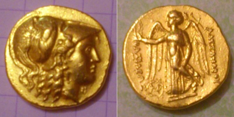 Avis sur 3 monnaies- Aéolis + 2 statères d'or séleucide Seleuk10