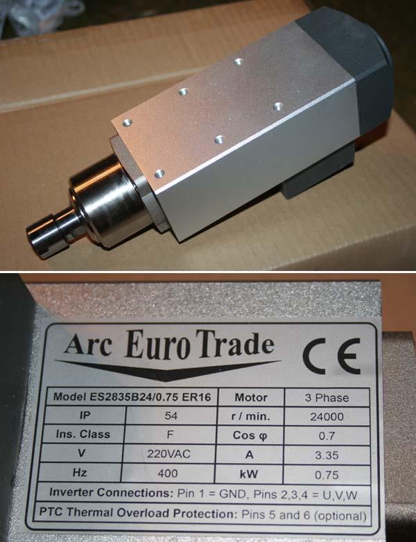 Broche Arc EuroTrade 0.75Kw (GMT) + Variateur de fréquence FUJI Aet0310