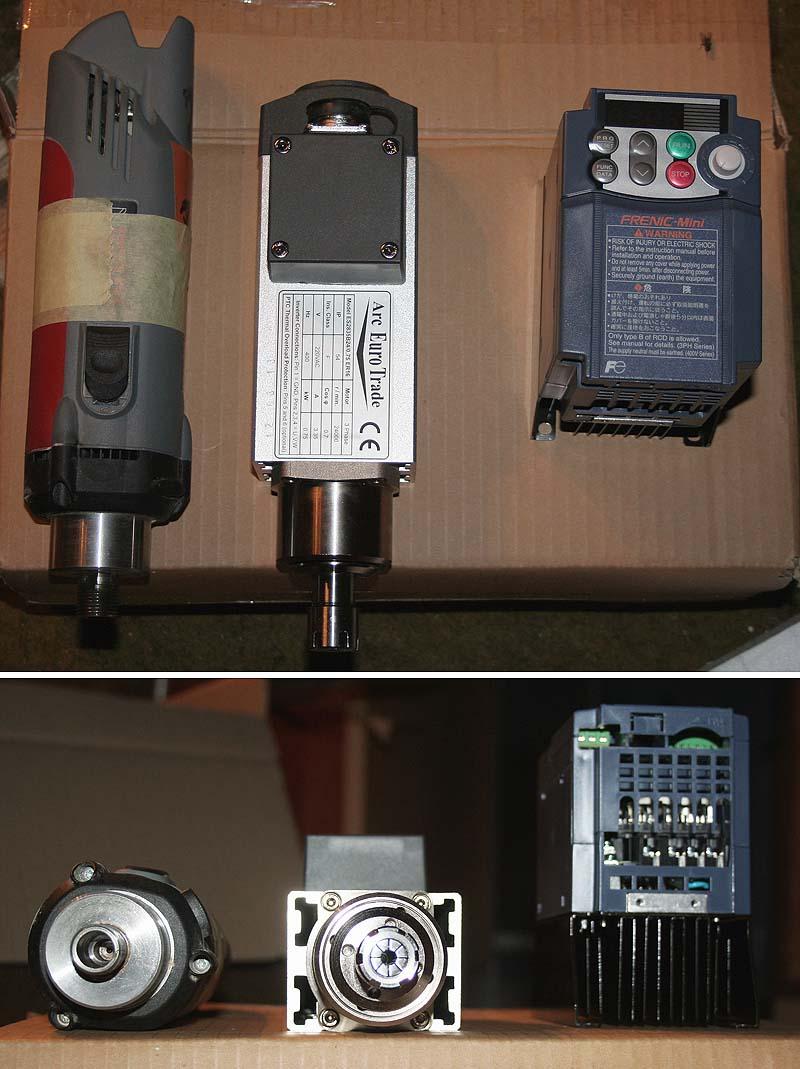 Broche Arc EuroTrade 0.75Kw (GMT) + Variateur de fréquence FUJI Aet0510