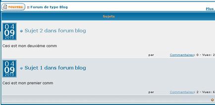 """Créer une section de type """"Blog"""" dans votre forum. Tutobl13"""