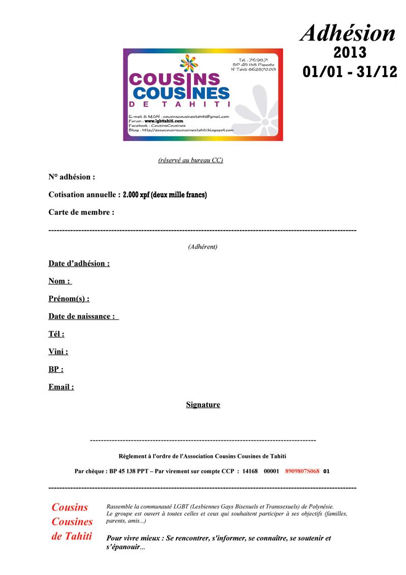 FICHE D ADHESION ASSO COUSINS COUSINES 2013 Fiche_12