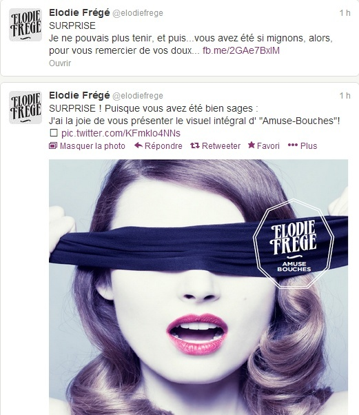 """""""Amuse-Bouches"""", 4ème album d'Elodie Frégé (Infos / Avis) Captur12"""
