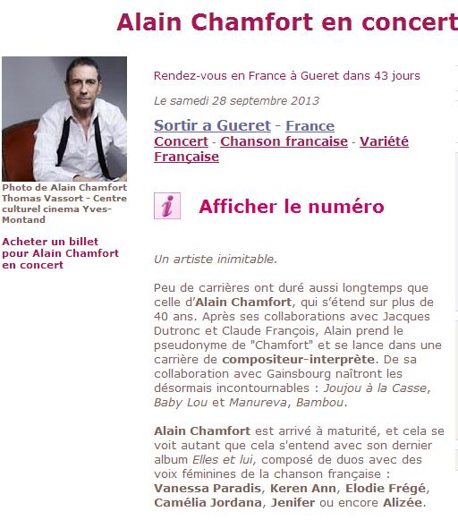 Elodie invitée d'Alain Chamfort au Grand Rex (30 janvier 2013) Captur12